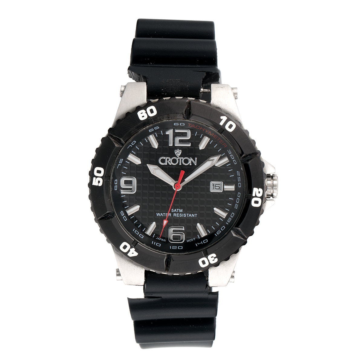 "Image of ""Croton Stainless Steel Quartz 42.5mm Quartz Mens Watch"""