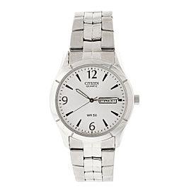 Citizen Quartz Day Date Silver Men's Watch BF0590
