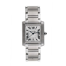 Cartier 2302 Tank Francaise W51002Q3 Stainless Steel Automatic 27.5mm Unisex Watch