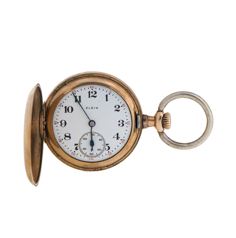 "Image of ""Elgin 14k Yellow Gold Mechinical Wind Pocket Watch"""