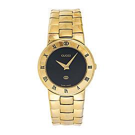 Gucci 3300L Gold Plated Quartz 26.5mm Womens Watch