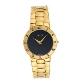 Gucci 3300.2.M Gold Plated Quartz 34.5mm Womens Watch