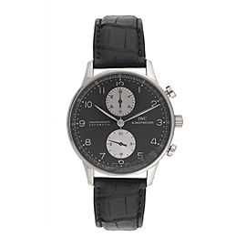 IWC Portuguese IW371404 Chronograph Panda Dial Stainless Steel 41mm Mens Watch