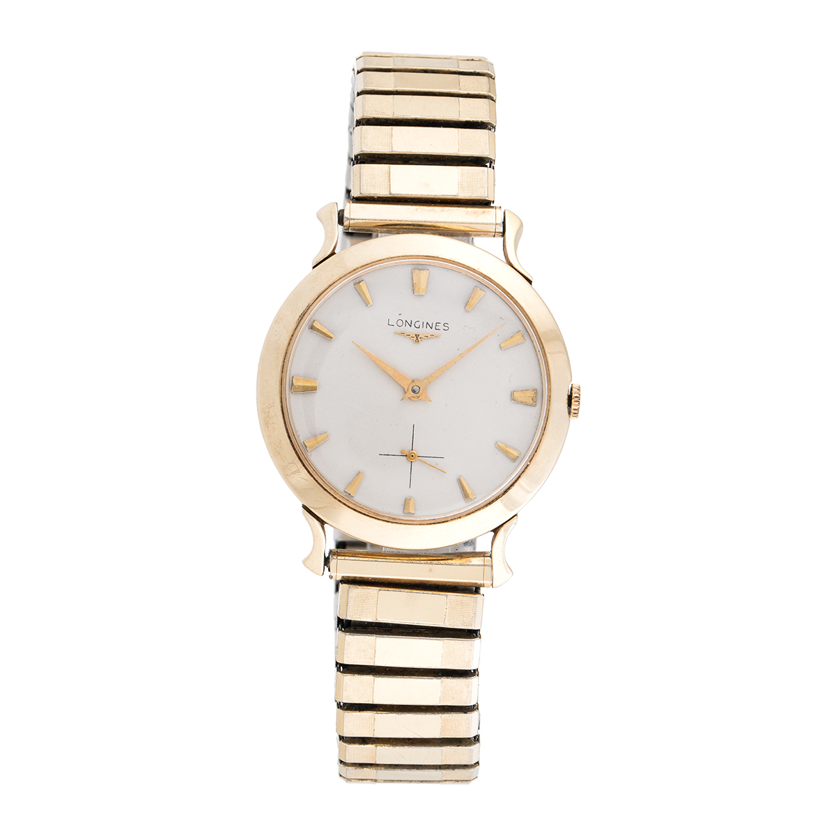 "Image of ""Longines 10K Gold Plated Dress 34mm Mens Vintage Watch"""