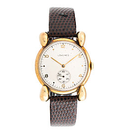 Longines 14K Yellow Gold Manual Wind 34mm Mens Watch