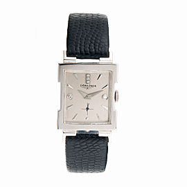 Longines 14K White Gold Dress Unisex 27mm Vintage Watch