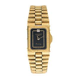 Longines Gold Plated Quartz 24.5mm Womens Dress Watch