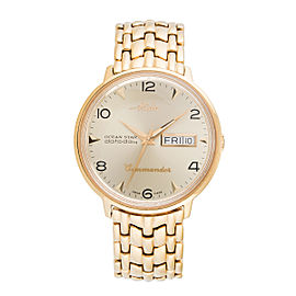Mido Ocean Star Commander Stainless Steel Gold Plated 38mm Mens Watch