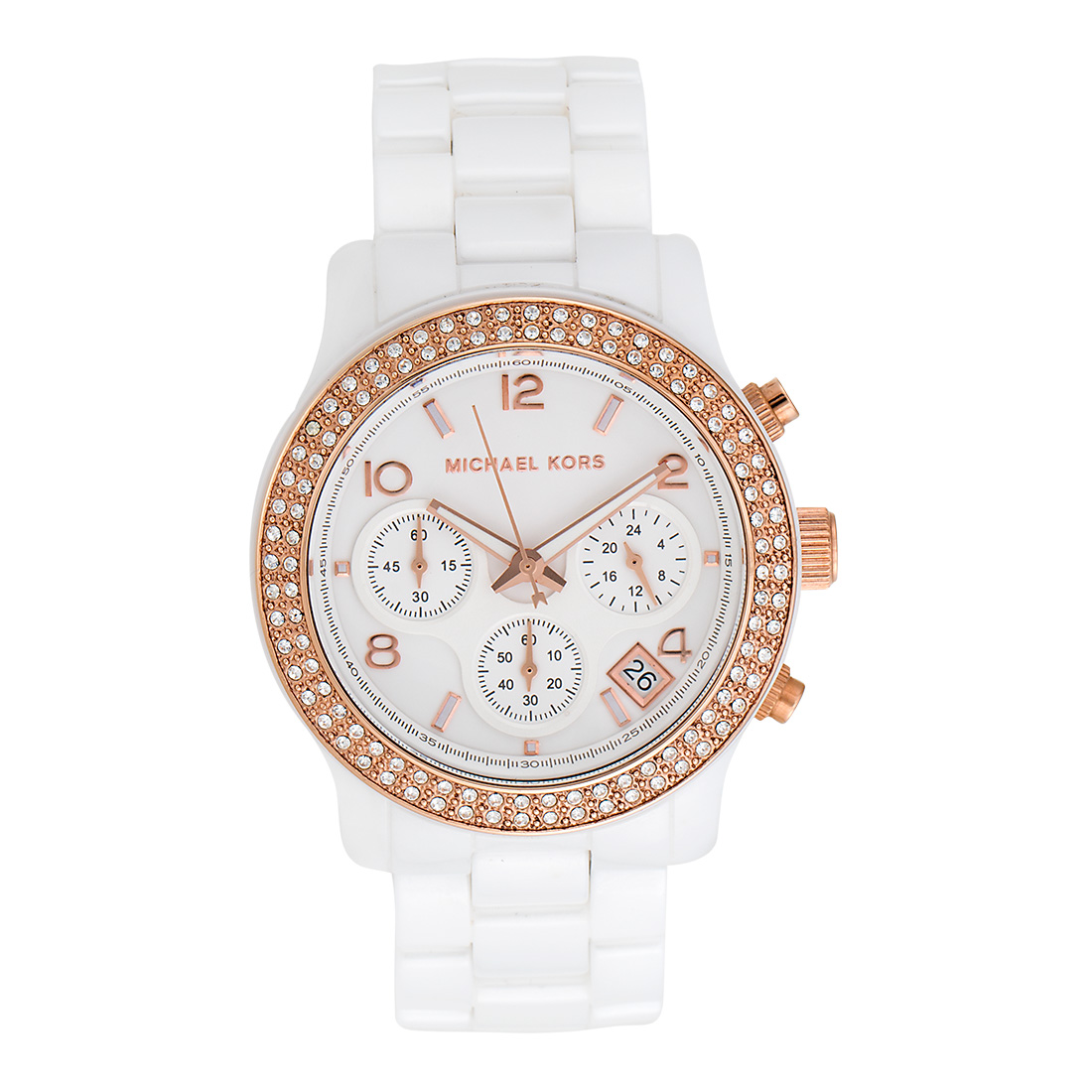 "Image of ""Michael Kors Mk5269 White Ceramic White Dial 39mm Womens Watch"""