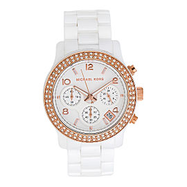 Michael Kors MK5269 White Ceramic White Dial 39mm Womens Watch