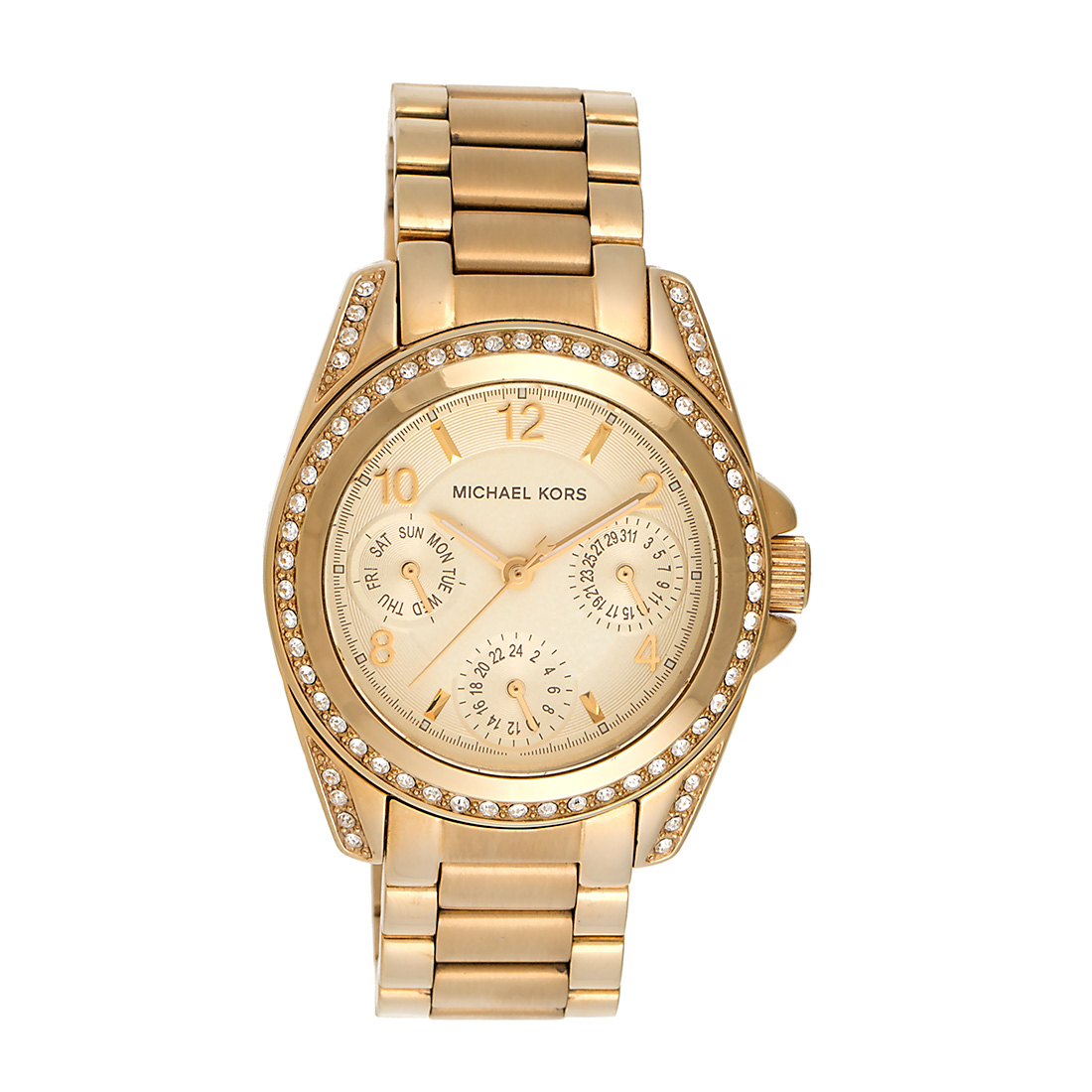 "Image of ""Michael Kors Blair Mk5639 Champagne Dial Gold-Tone Stainless Steel"""