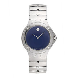 Movado Sports Edition 84 G1 1892 Stainless Steel Blue Dial 37mm Mens Watch