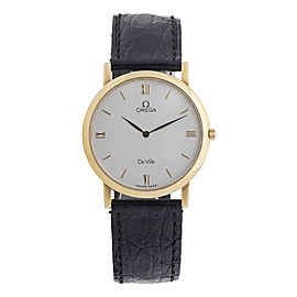 Omega DeVile 18K Yellow Gold Quartz 32.5mm Watch