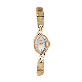 Omega 14K Yellow Gold Manual Wind Vintage Womens 18mm Watch