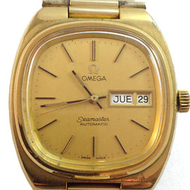 Omega Seamaster 35mm Gold Plated Stainless Steel Watch