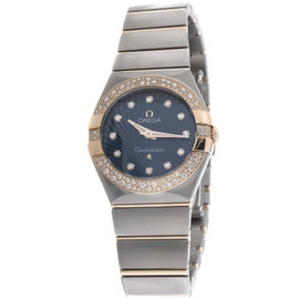 Omega Constellation 123.25.27.60.53.001 Stainless Steel & 18K Rose Gold Womens Watch