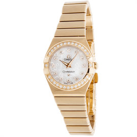 Omega Constellation 123.55.24.60.55.015 18K Rose Gold Womens Watch