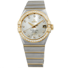 Omega Constellation 123.25.38.21.52.002 Stainless Steel And 18K Yellow Gold Mens Watch