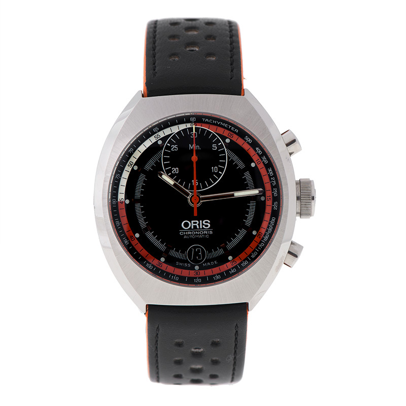 """Image of """"Oris Chronoris Cal 672 Stainless Steel Black Automatic Date 40mm Watch"""""""