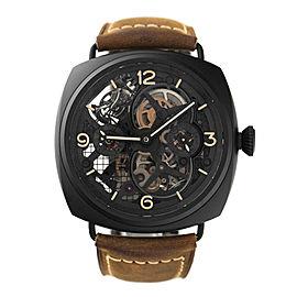 Panerai Special Edition 2010 Lo Scienziato Radiomir Tourbillon GMT 18k White Gold Black Ceramic 48mm Watch