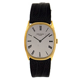 Patek Phillipe 18k Yellow Gold Oval Watch