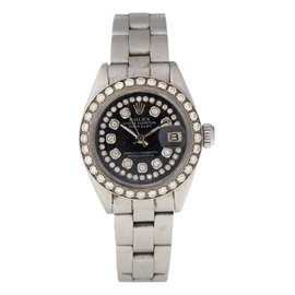 Rolex Ladies DateJust 6917 Diamond Bezel Diamond Dial