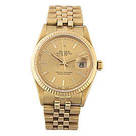Rolex Date 15037 18k Yellow Gold 34mm Watch
