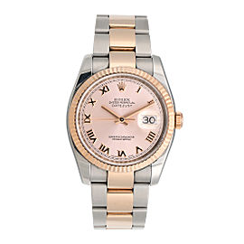 Rolex Oyster Perpetual Datejust 116231 PRO Pink Dial Stainless Steel and 18K Everose Gold Bracelet Automatic 36mm Mens Watch