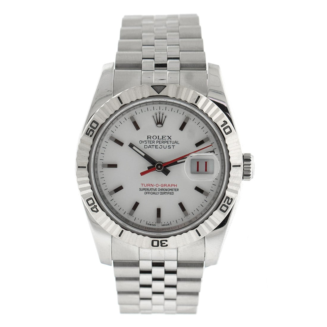 Rolex DateJust Turn-O-Graph 116264 Watch