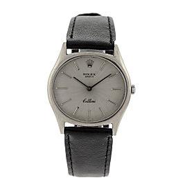 Rolex 18k White Gold Vintage Mens Watch Cellini