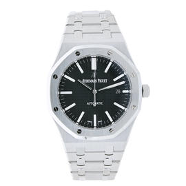 Audemars Piguet Royal Oak Stainless Steel Watch Black Dial 15400ST.OO.1220ST.01