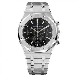 Audemars Piguet Royal Oak Chronograph Steel Watch Black Dial 26320ST.OO.1220ST.01
