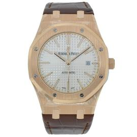 Audemars Piguet Royal Oak 41 Rose Gold Watch Silver Dial 15400OR.OO.D088CR.01