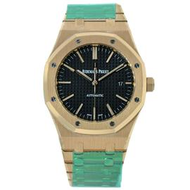 Audemars Piguet Royal Oak 41 Rose Gold Watch Black Dial 15400OR.OO.1220OR.01
