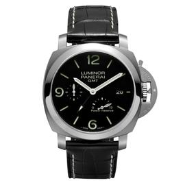 Panerai Luminor Marina 1950 3-Day GMT Power Reserve Acciaio Stainless Steel Watch PAM00321