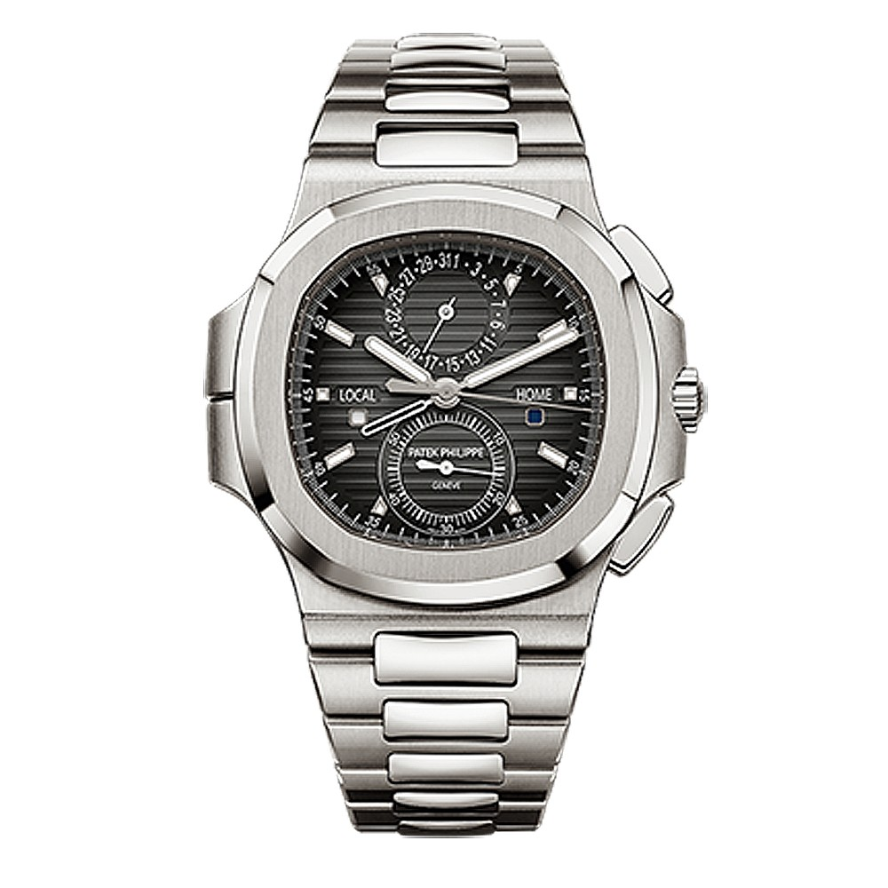 "Image of ""Patek Philippe Nautilus Stainless Steel Travel Time Chronograph Watch"""