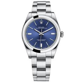 Rolex Oyster Perpetual 39 Stainless Steel Watch Blue Dial 114300