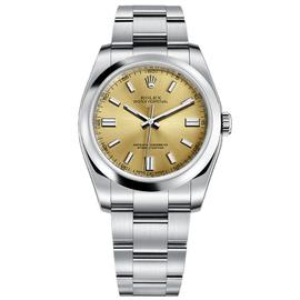 Rolex Oyster Perpetual 36 Stainless Steel Watch White Grape Dial 116000