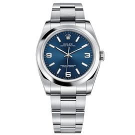Rolex Oyster Perpetual 36 Stainless Steel Watch Blue Arabic Dial 116000