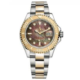 Rolex Yacht-Master 40 Steel & Yellow Gold Watch Mother of Pearl Dial 16623