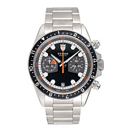 Tudor Heritage Chronograph 70330N Stainless Steel 42mm Mens Watch