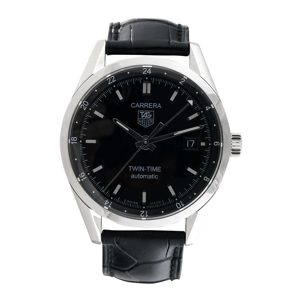 "Image of ""Tag Heuer Carrera Wv2115.fc6180 Stainless Steel 39mm Mens Watch"""