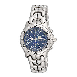 Tag Heuer Link CG2111-R0 Stainless Steel Automatic Blue Dial Chronograph 43mm Mens Watch