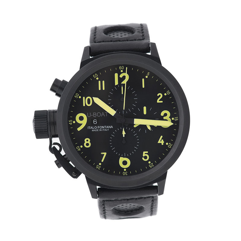 "Image of ""U-Boat Flightdeck Z 50 CAB Y Black PVD Case 50mm Watch"""