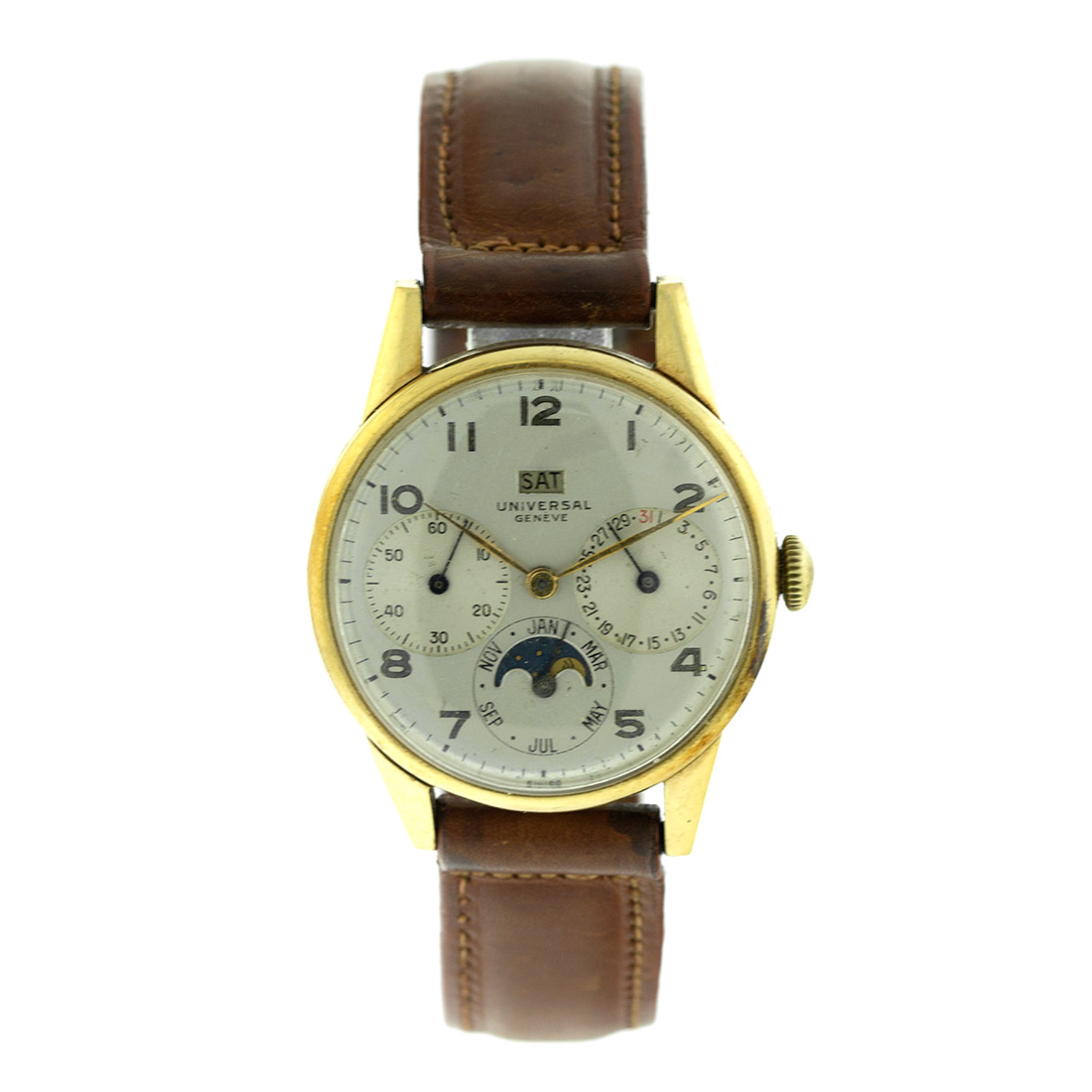 "Image of ""Universal Geneve Triple Date Vintage Mens Watch"""
