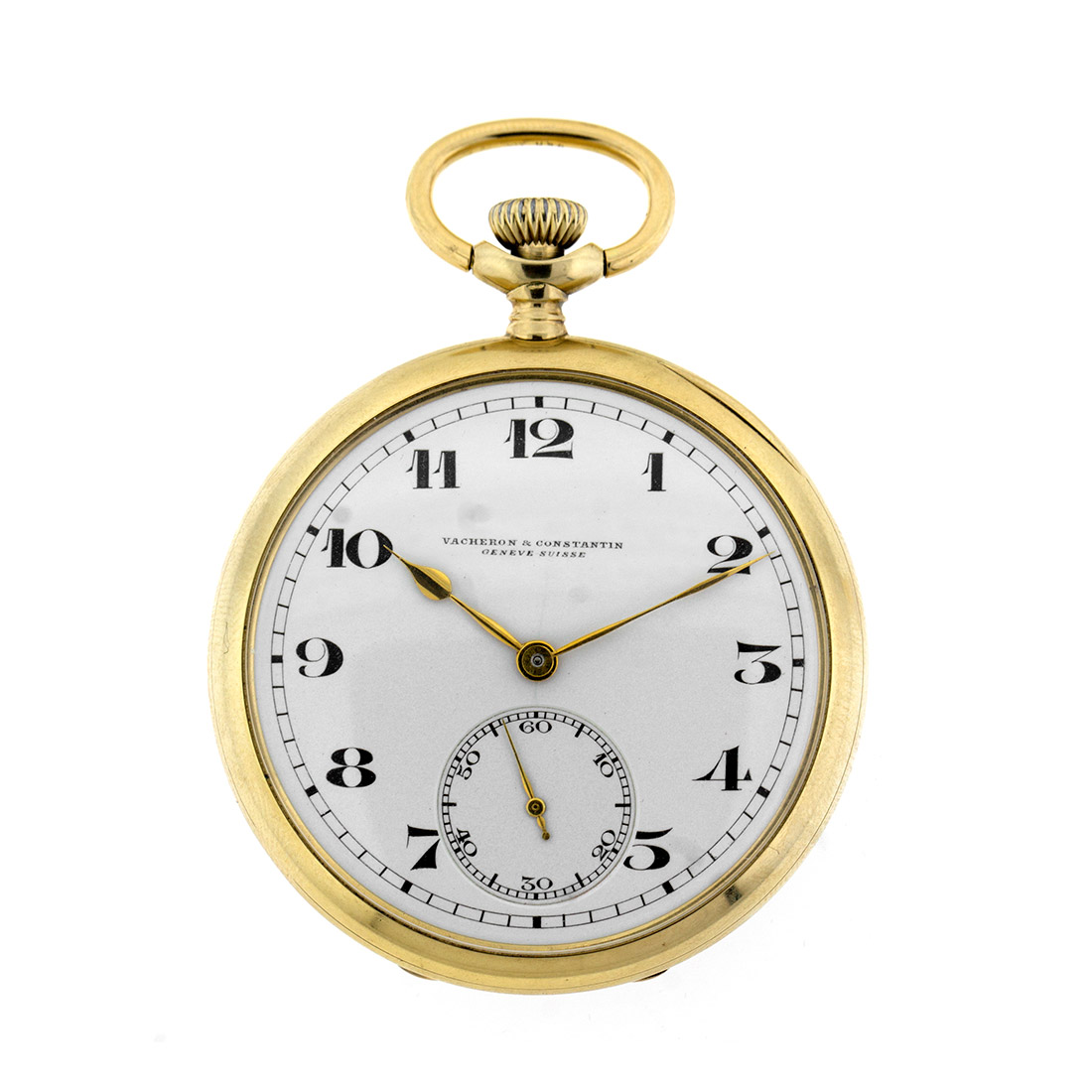 "Image of ""Vacheron Constantin 14k Yellow Gold Open Face Pocket Watch"""