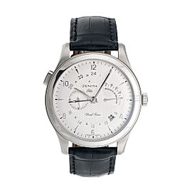Zenith 03.0520.683 Grande Class Reserve De Marche RDM & Dual Time Automatic 44mm Mens Watch