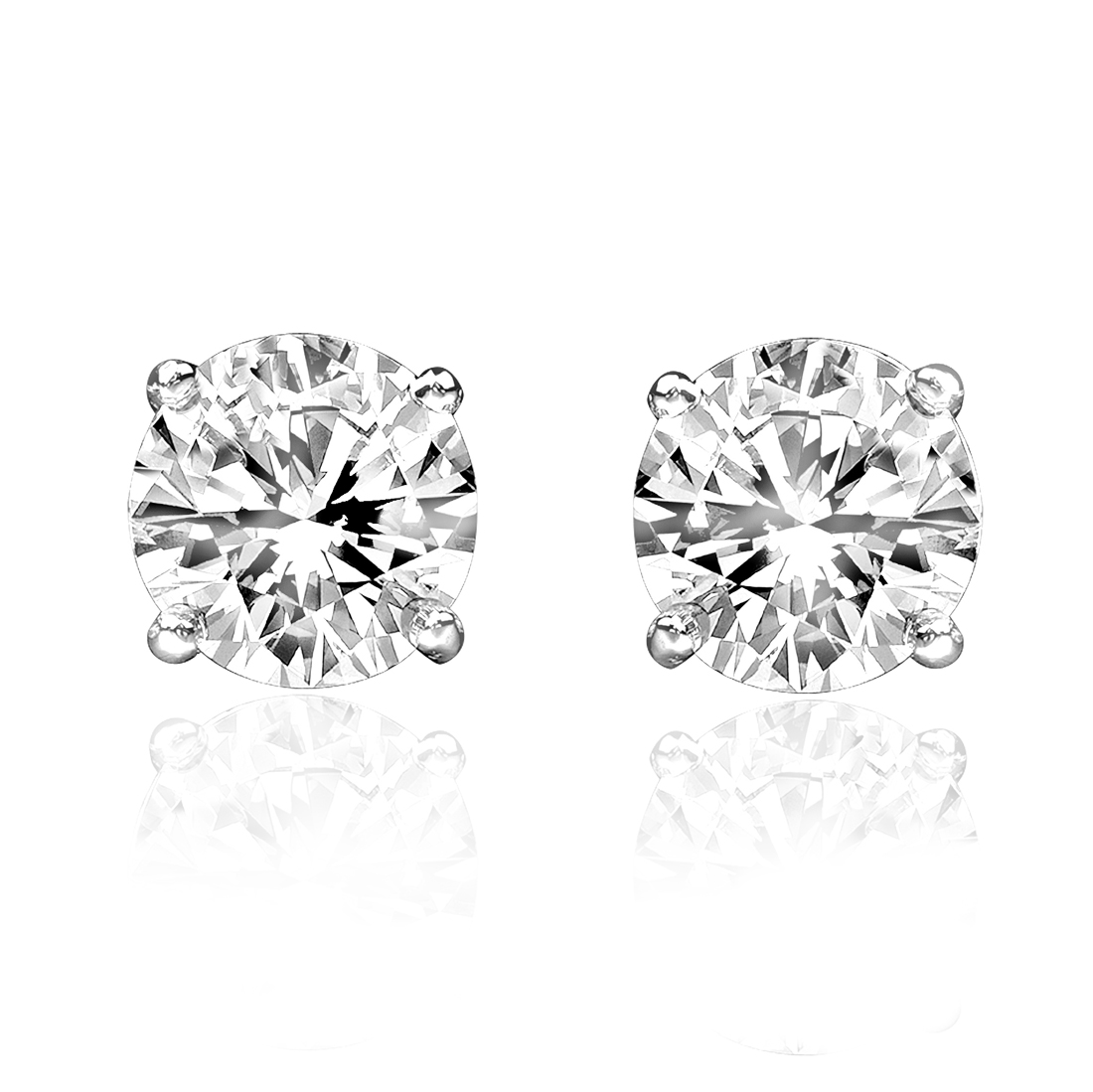 "Image of ""1.00ct Diamond 14k White Gold Stud Earrings"""