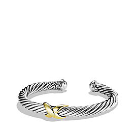 David Yurman Sterling Silver & 18K Yellow Gold X Bracelet