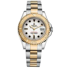 Rolex Yacht-Master 35 Steel & Yellow Gold Watch White Dial 168623